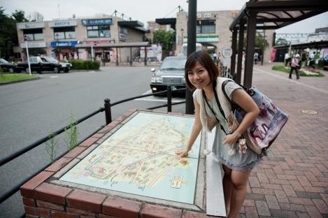 小金井站外面的地图