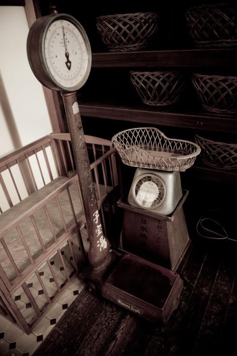 江戸東京たてもの園-澡堂体重计