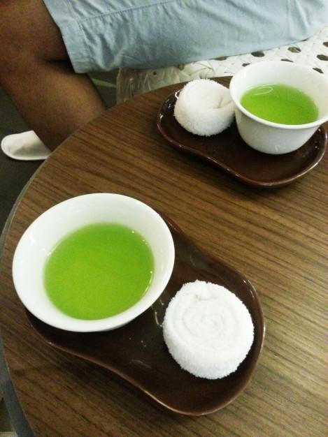 Let's Relax Spa - Pandan tea before Spa