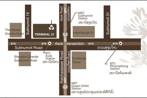 Bangkok Thai massage - location map
