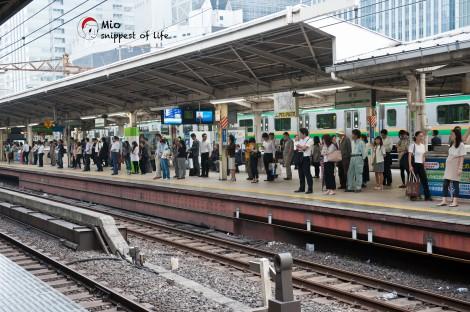 新宿站,人山人海