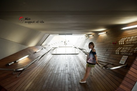 横滨国际客轮大栈桥-通往送行的地方的走廊