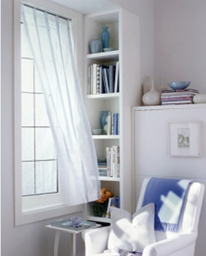 My dream book nook - Pure white paint