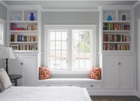 Book nook in bedroom