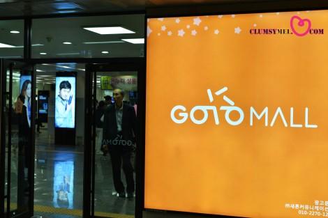 我的首爾行的首要購物商場-高速巴士客運站。地下商場。Goto Mall