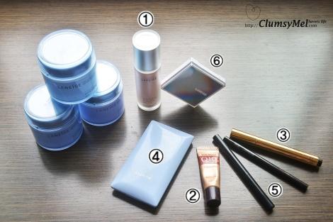 5分钟裸装的基本的化妆用品